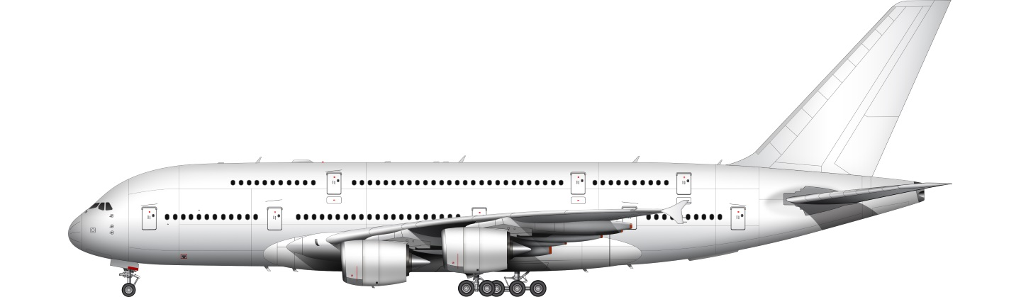 Airbus A380 illustration