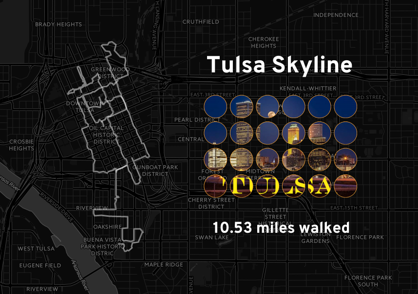 Map of Tulsa Skyline Ingress Missions