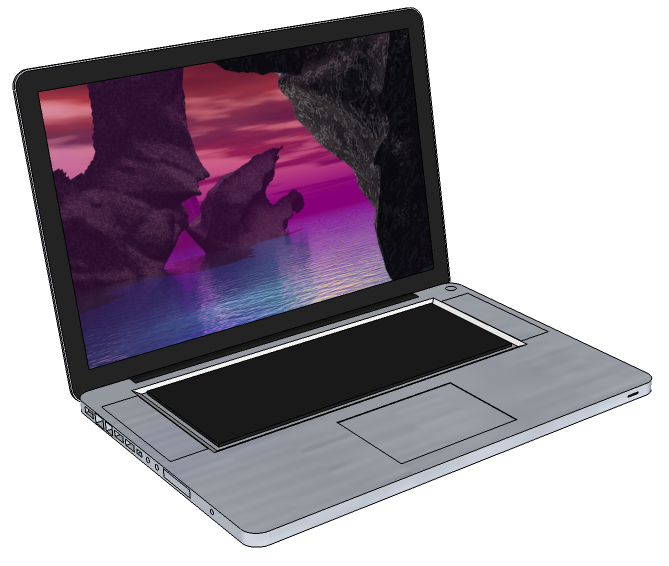 SketchUp model of a MacBook Pro laptop