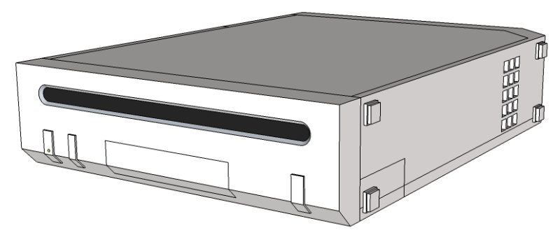 SketchUp model of a Nintendo Wii