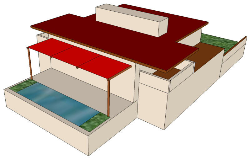 SketchUp model of a simplified Westcott House