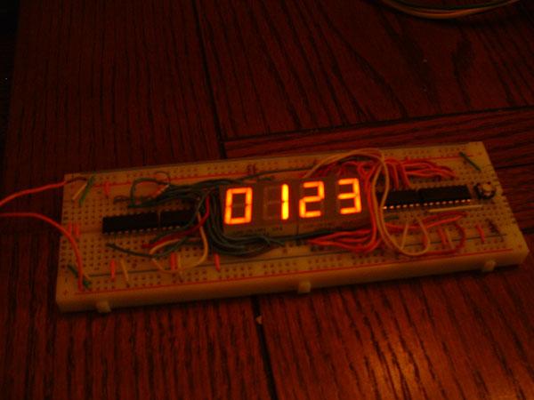 Counter circuit on a breadboard