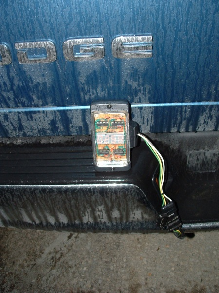 Case on the truck's bumper