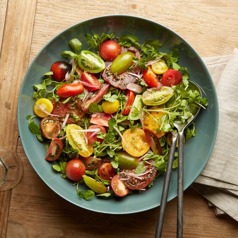 13+ Heirloom Tomato Salad with Watercress and Pickled Shallots Kollektion