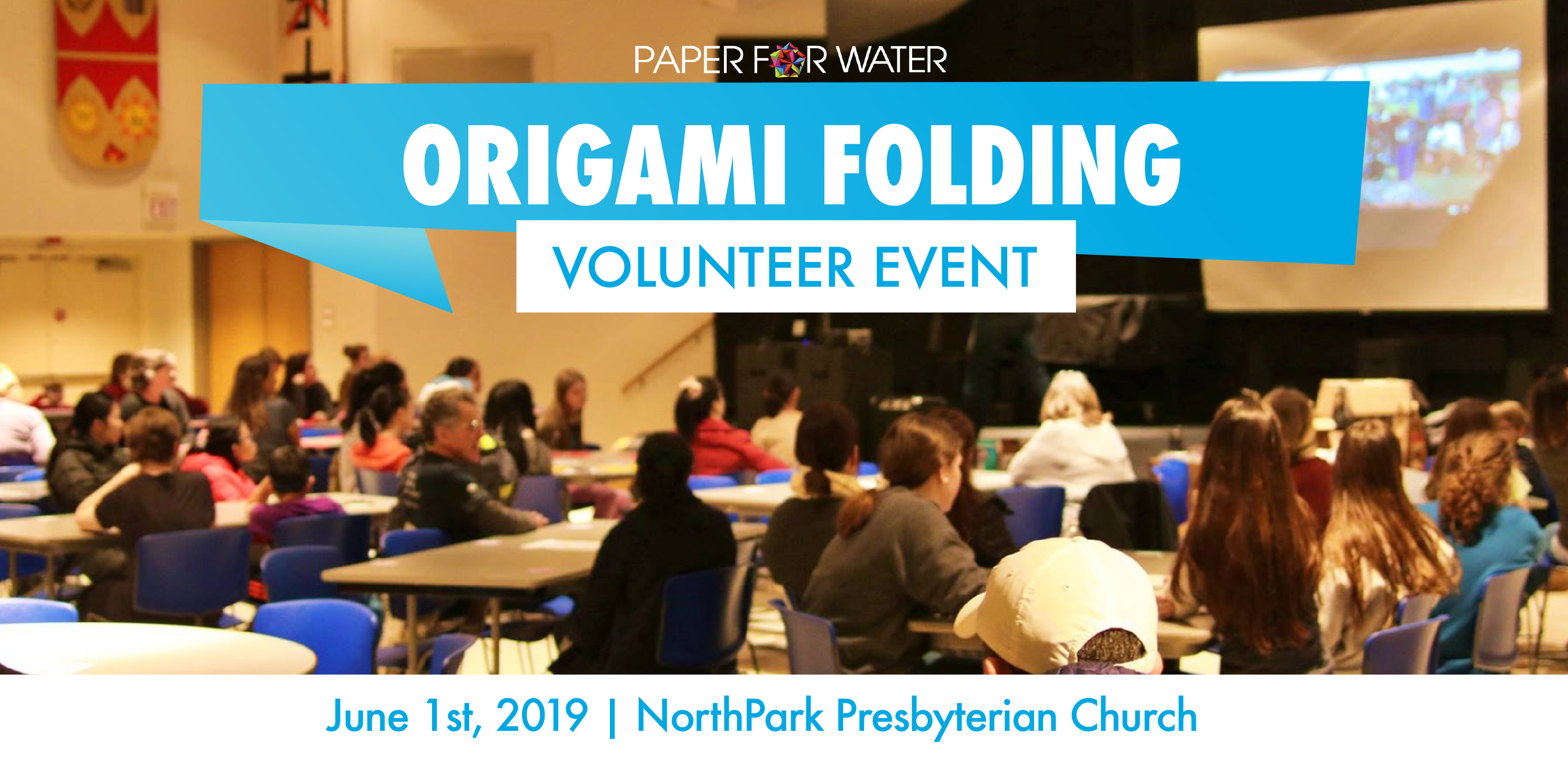 Origami folding volunteer event 06