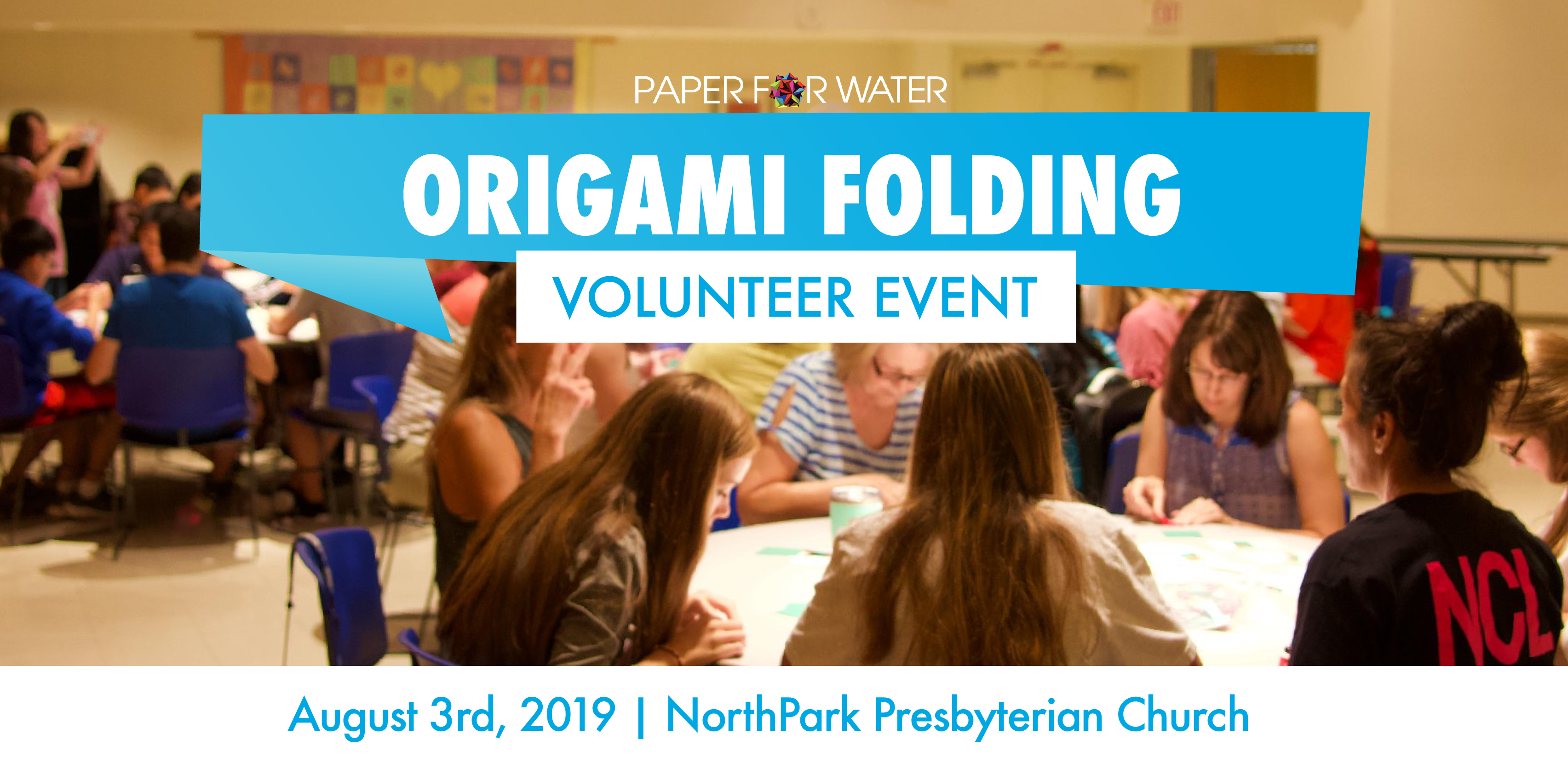 Origami folding volunteer event 08