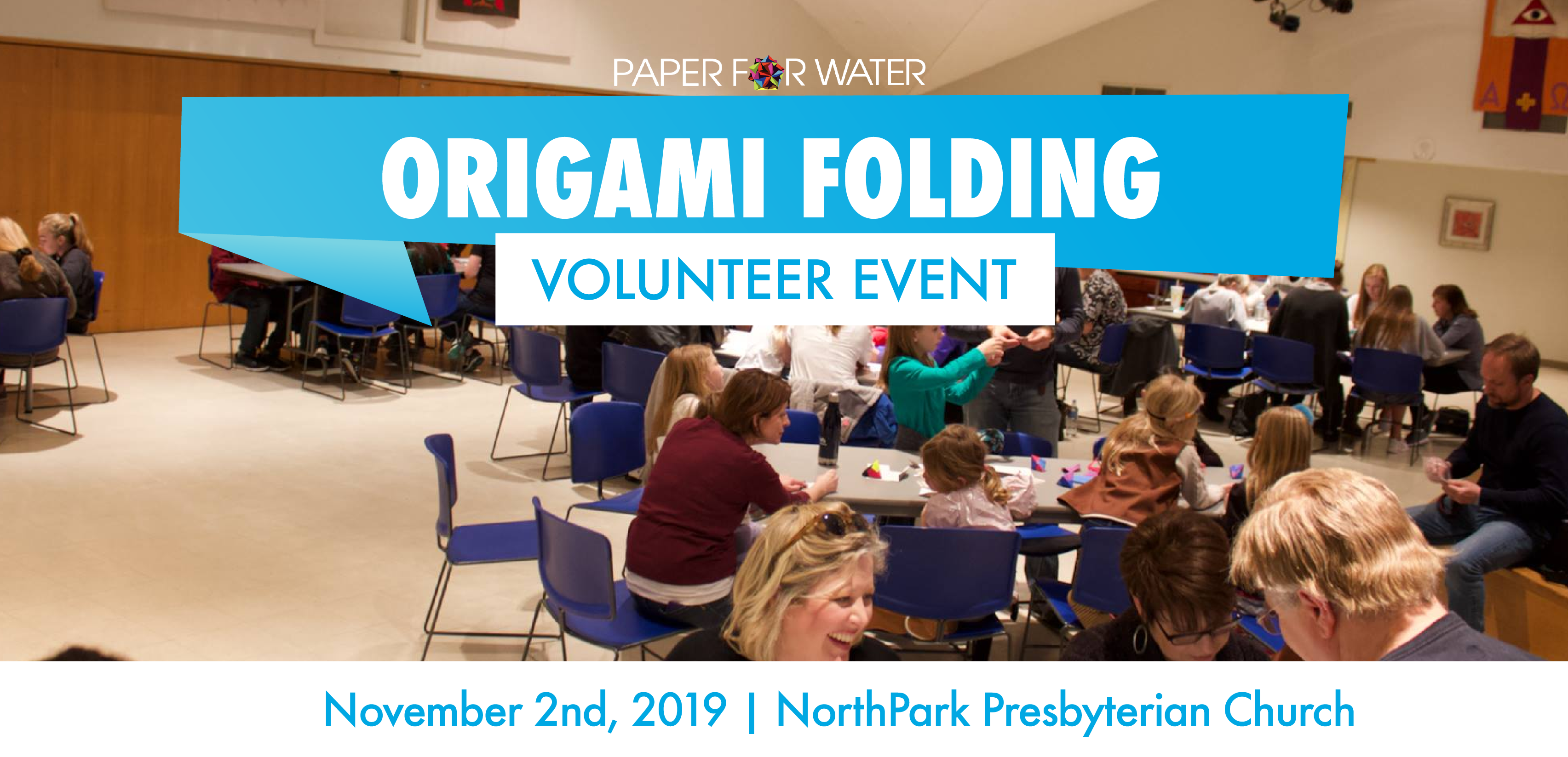 Origami folding volunteer event 12
