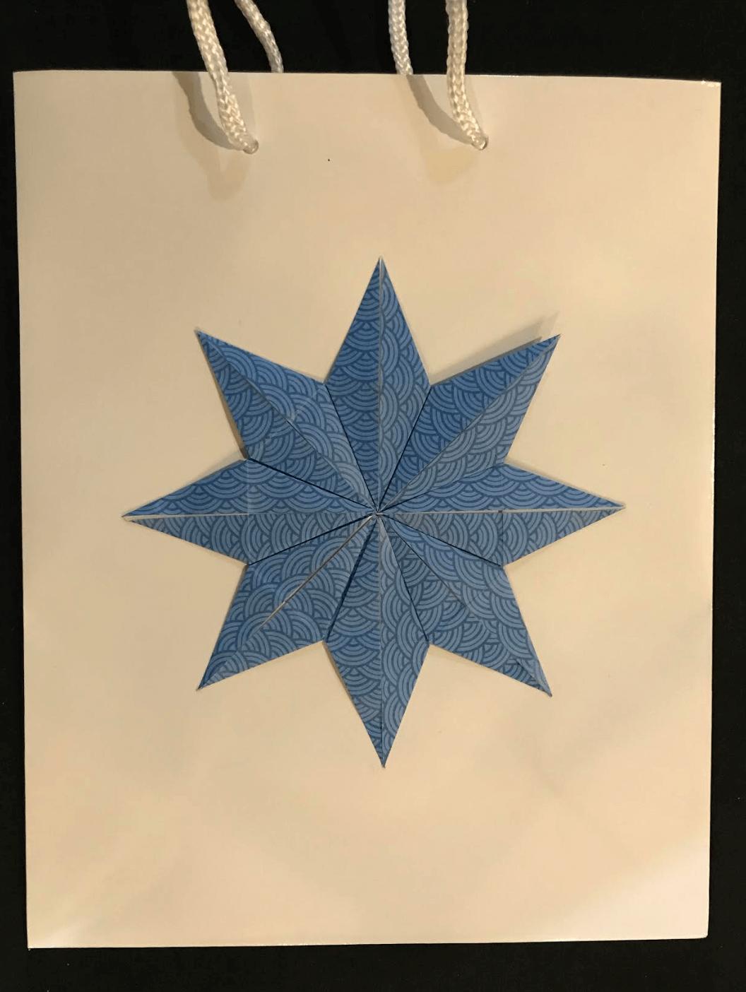 Blue wave gift bag set of four