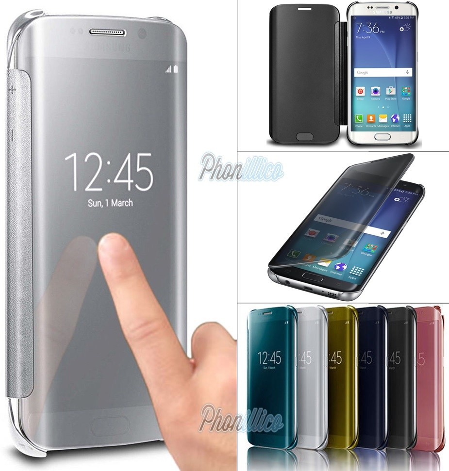 size 40 c306b 8f313 Details about Case Clear View Flip Stand Cover for Samsung Galaxy  S9/S8/NOTE8/A3/A5/J3/J5/J7