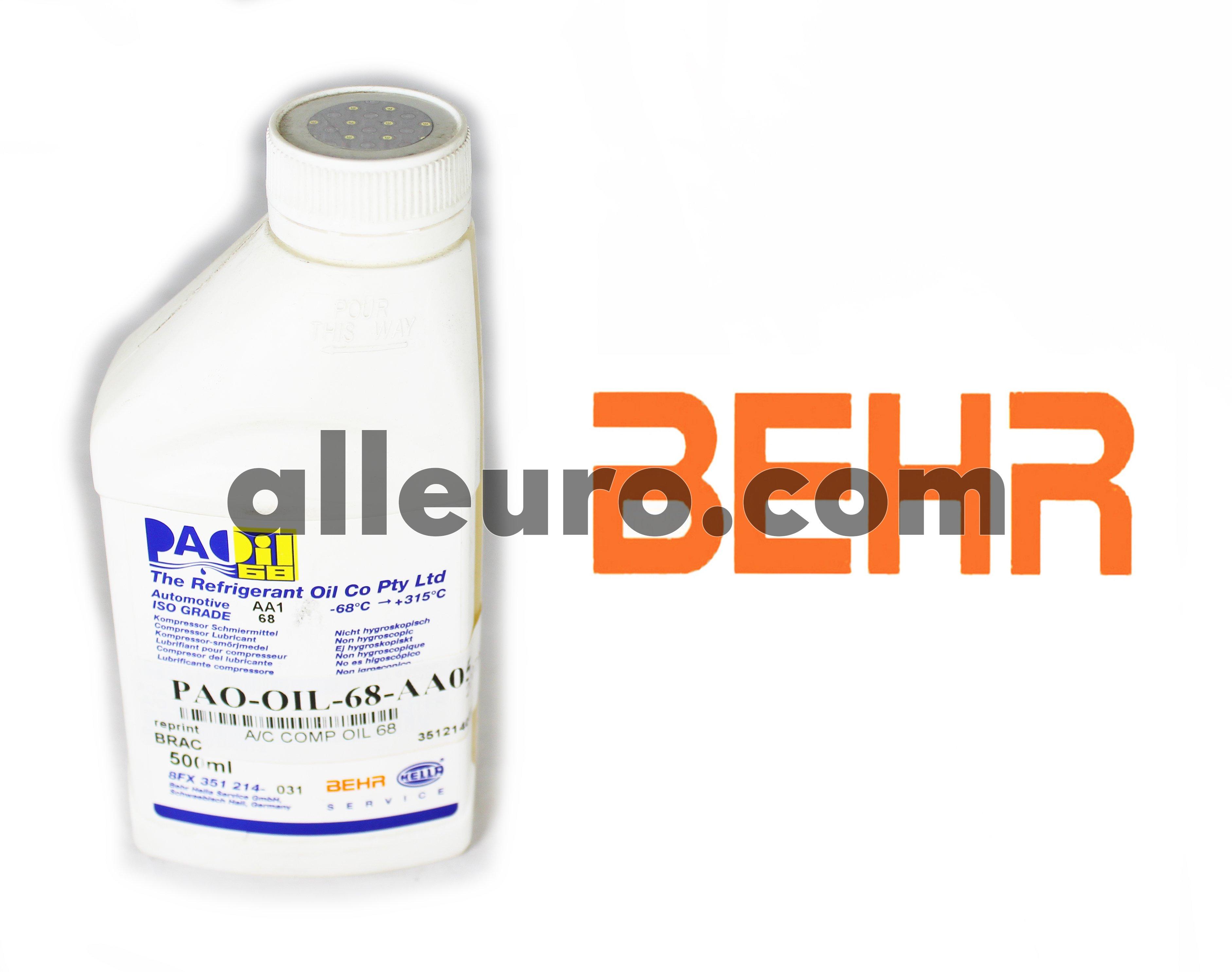 Behr Hella Service A/C compressor oil PAO-OIL-68-AA05 - A/C COMPRESSOR Oil 68 viscocity
