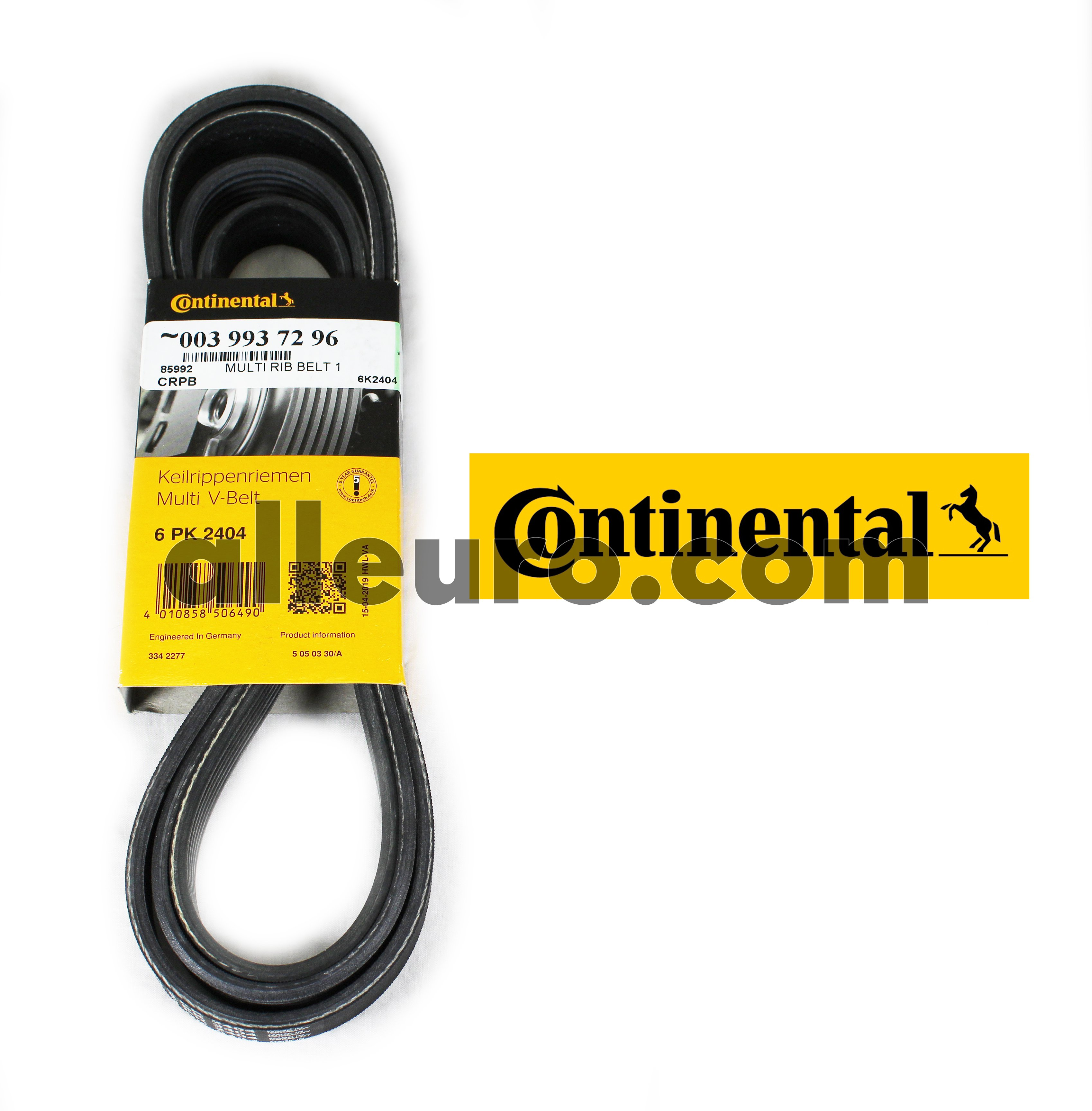 Continental ContiTech Serpentine Belt 0039937296