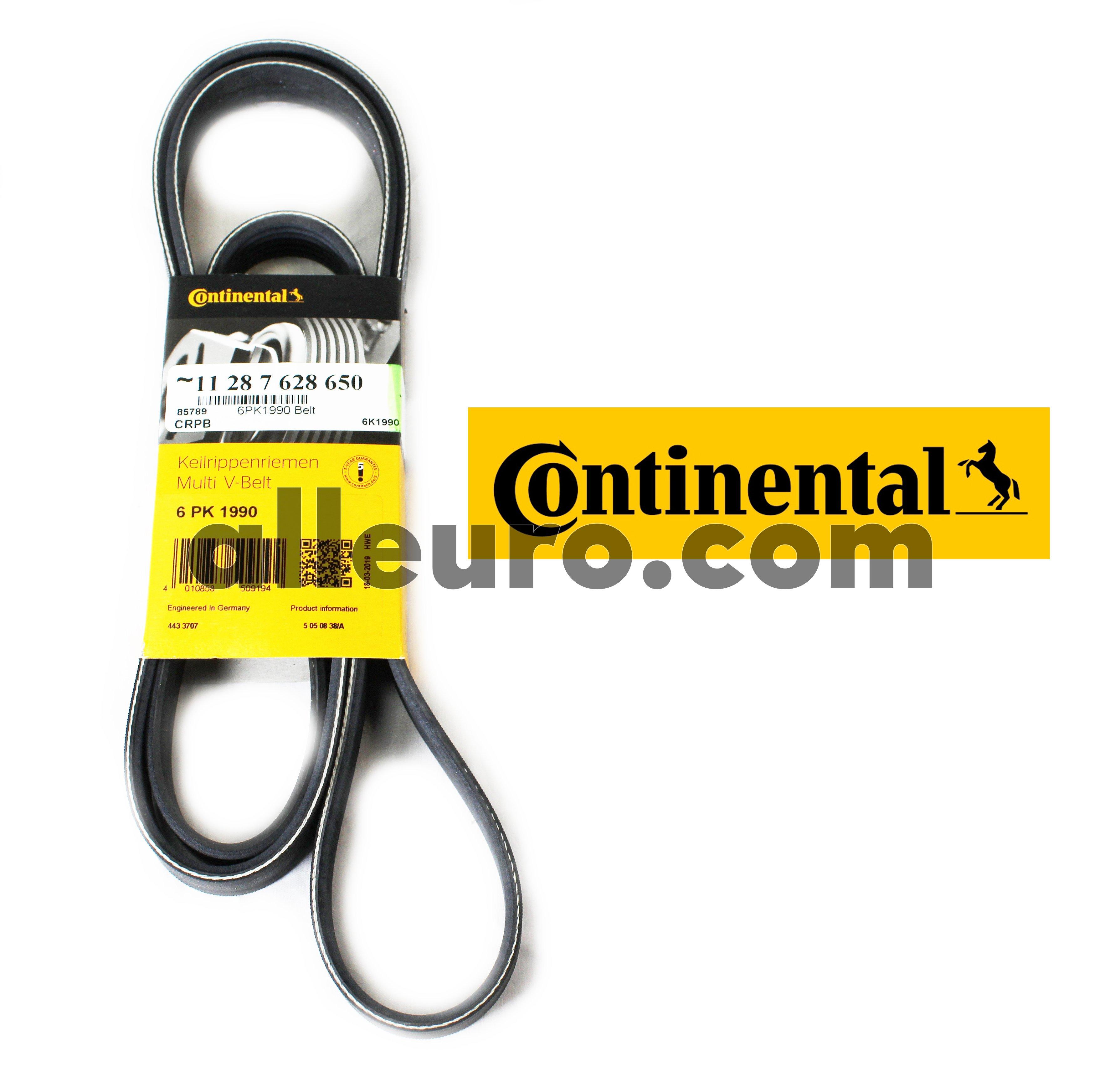 Continental ContiTech Alternator, Power Steering and Air Conditioning Serpentine Belt 11287628650 6K1990