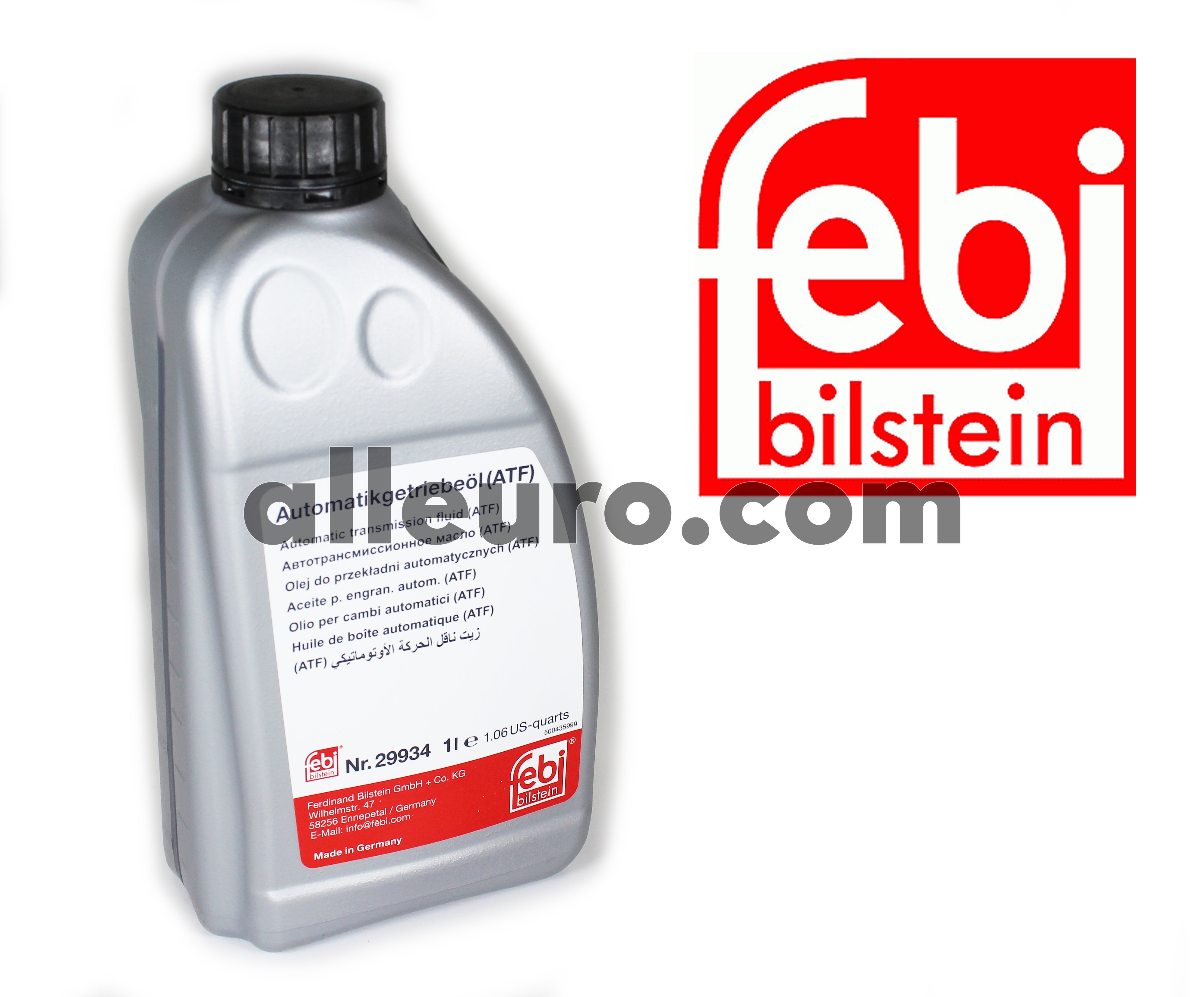 Febi Bilstein Automatic Transmission Fluid 1 Liter 29934 29934