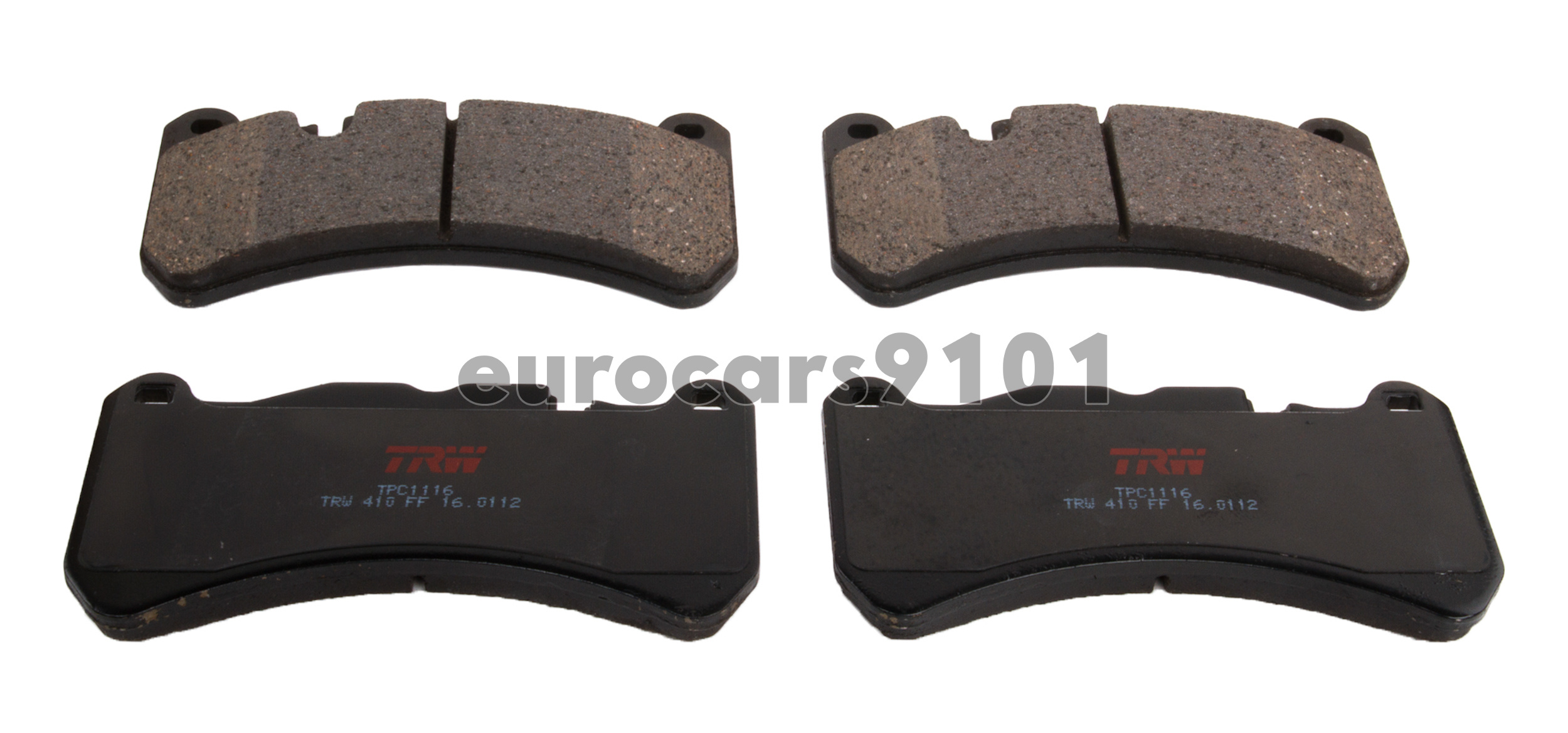 TRW Black TPC0984 Premium Ceramic Rear Disc Brake Pad Set TRW Automotive