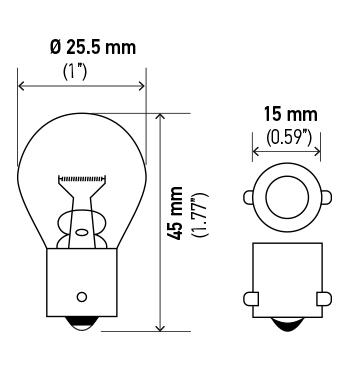 Hella Back Up Light Bulb LB-1156 1156