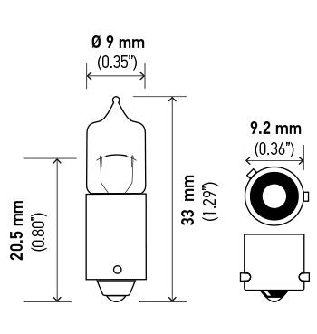 Hella Back Up Light Bulb LB-H6W H6W