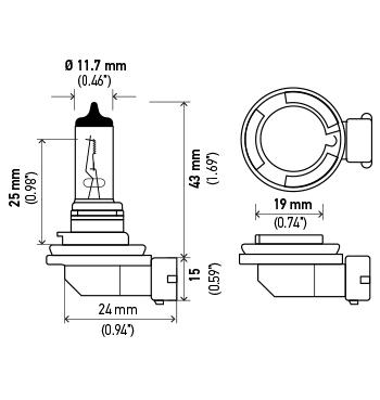 Hella Cornering Light Bulb LB-H8/35W H8