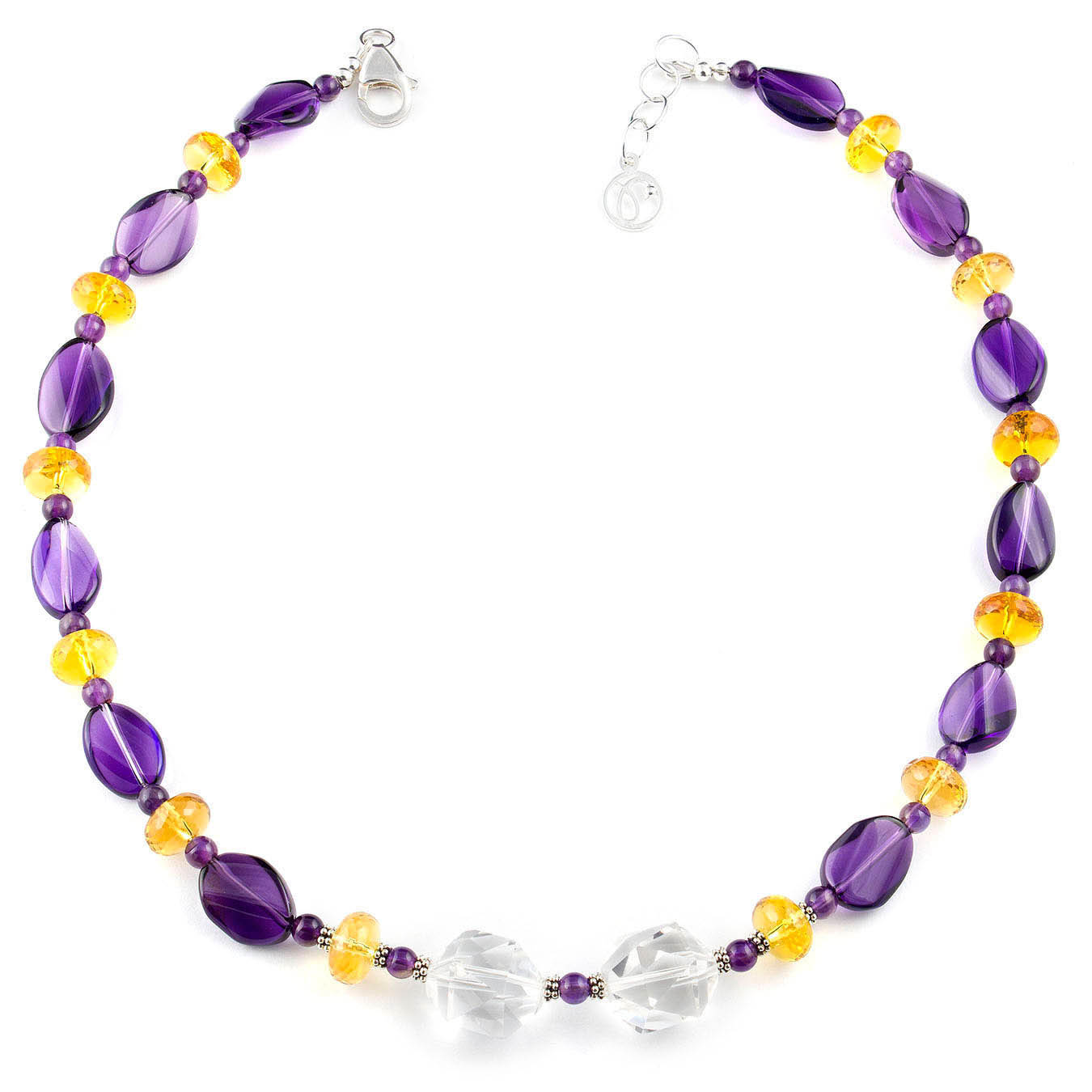 Multi-stone February birthstone necklace set made with amethyst