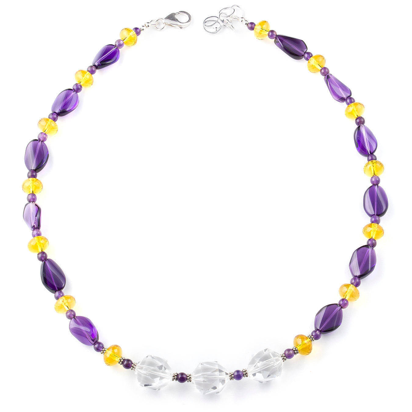 Multi-stone beaded jewelry November birthstone necklace