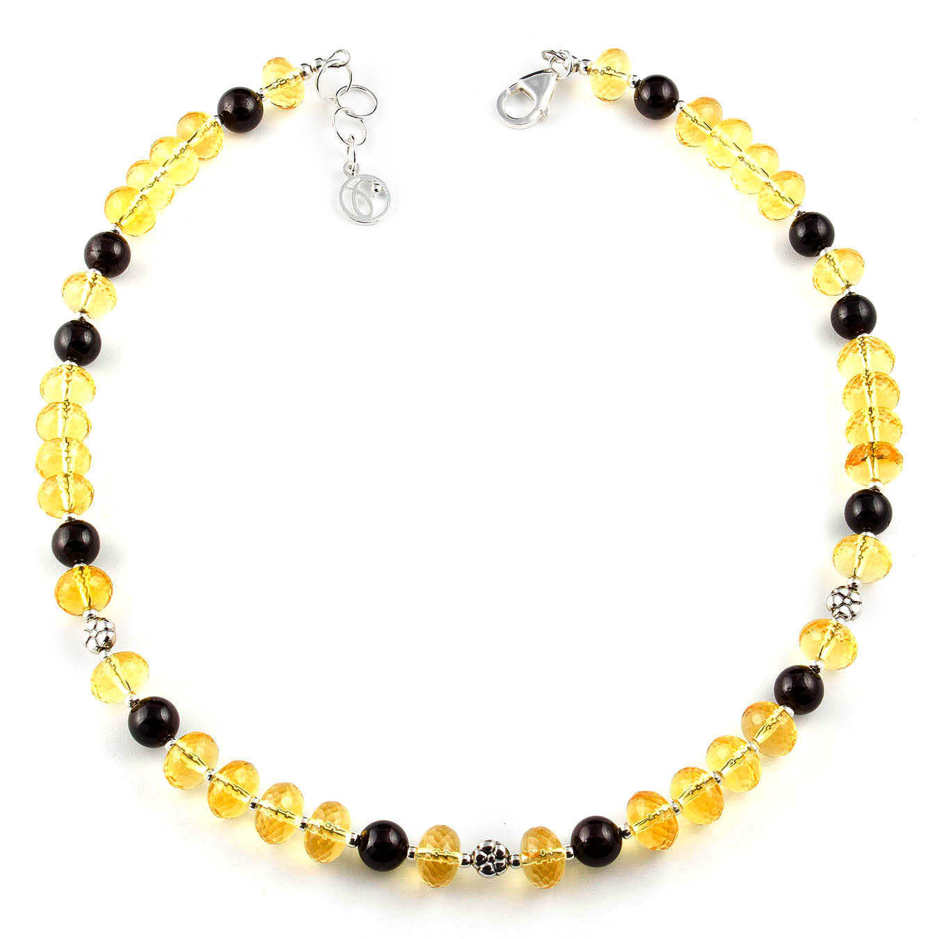 January & November birthstone necklace set made of citrine and garnet