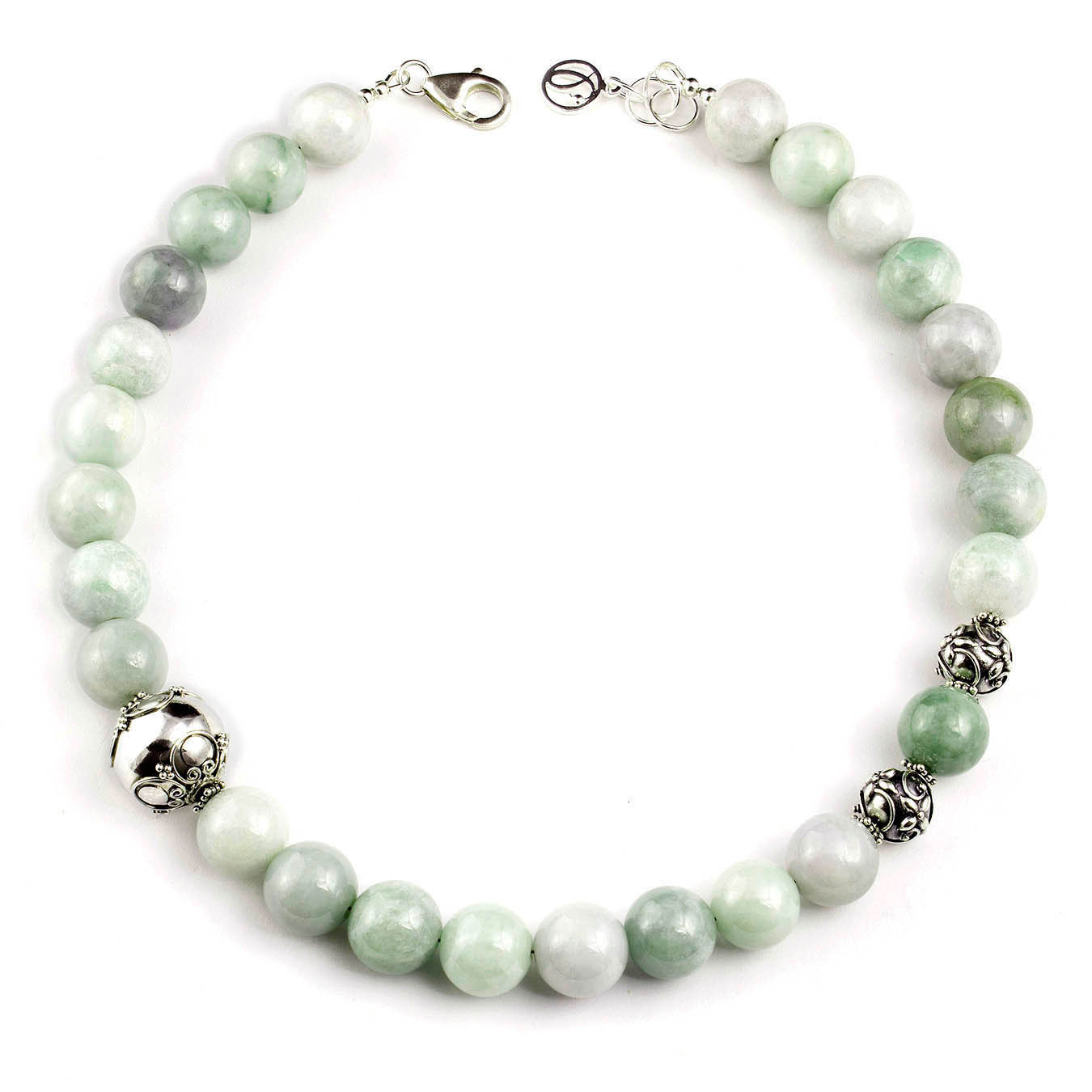 Handcrafted classic bead jewelry made with Burma Jade and Bali Silver
