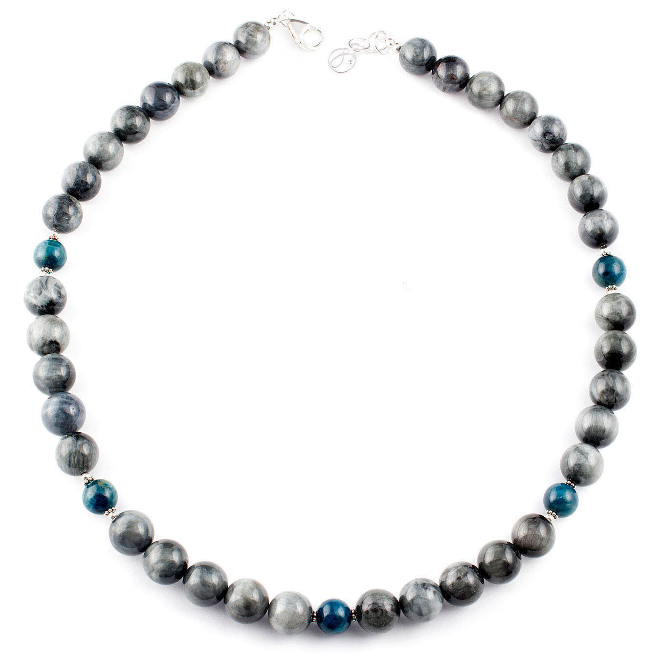 Handmade choker jewelry necklace made of teardrop faceted black agate