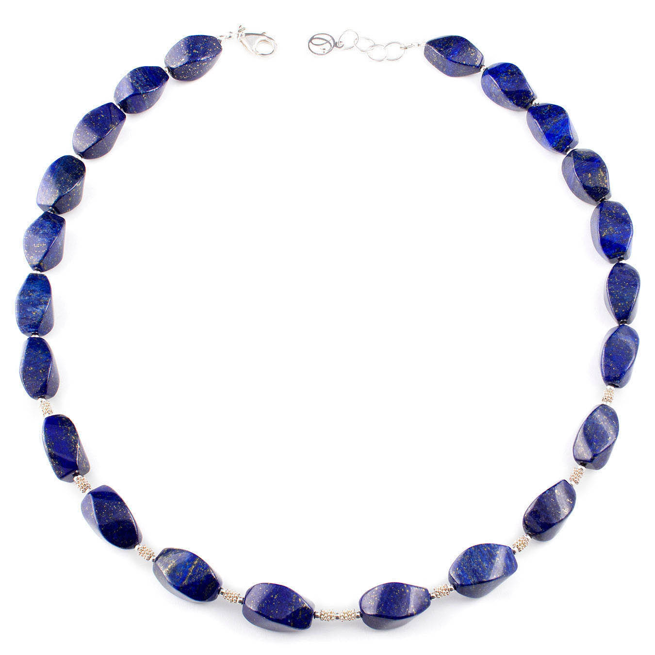 Handcrafted  bold necklace made with midnight blue lapis lazuli stones