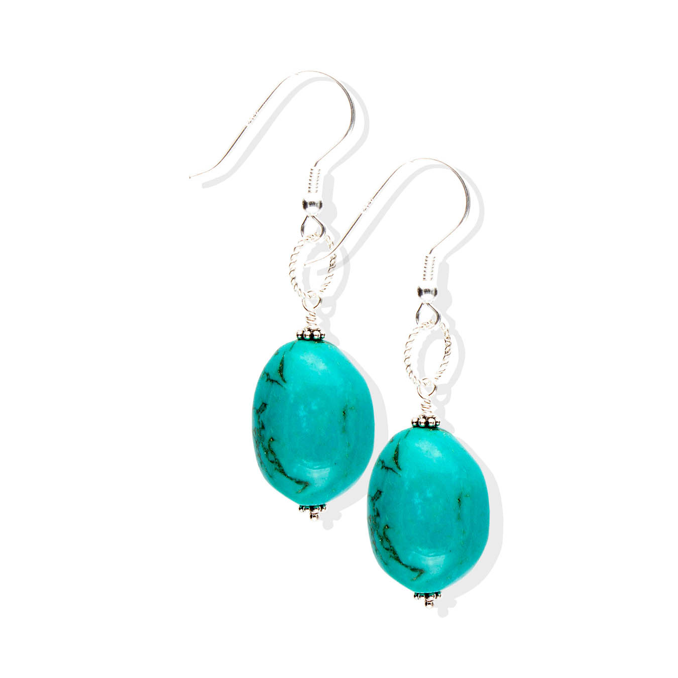 Handcrafted chunky December birthstone bead jewelry made of turquoise