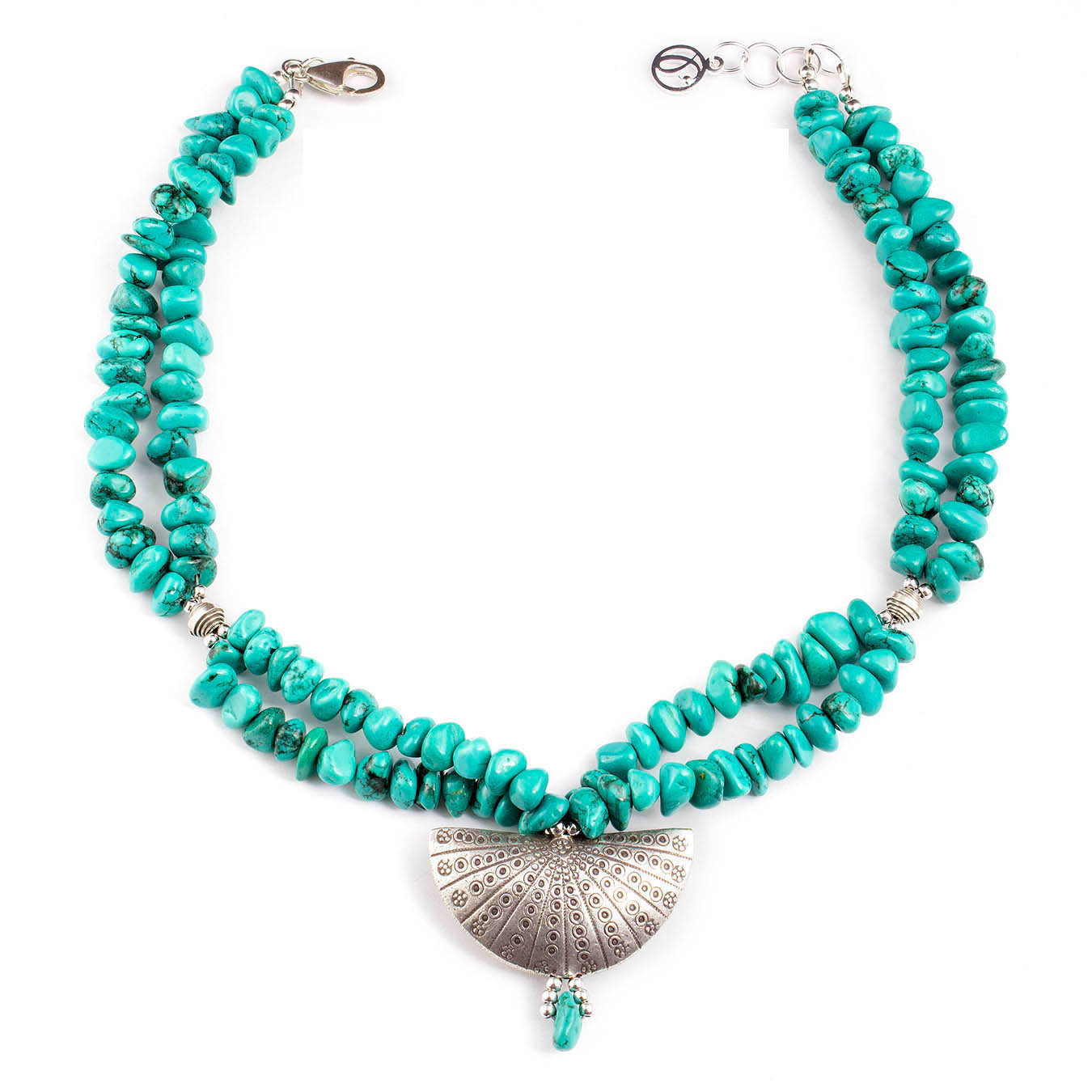 Handcrafted December birthstone jewelry made of turquoise and Silver