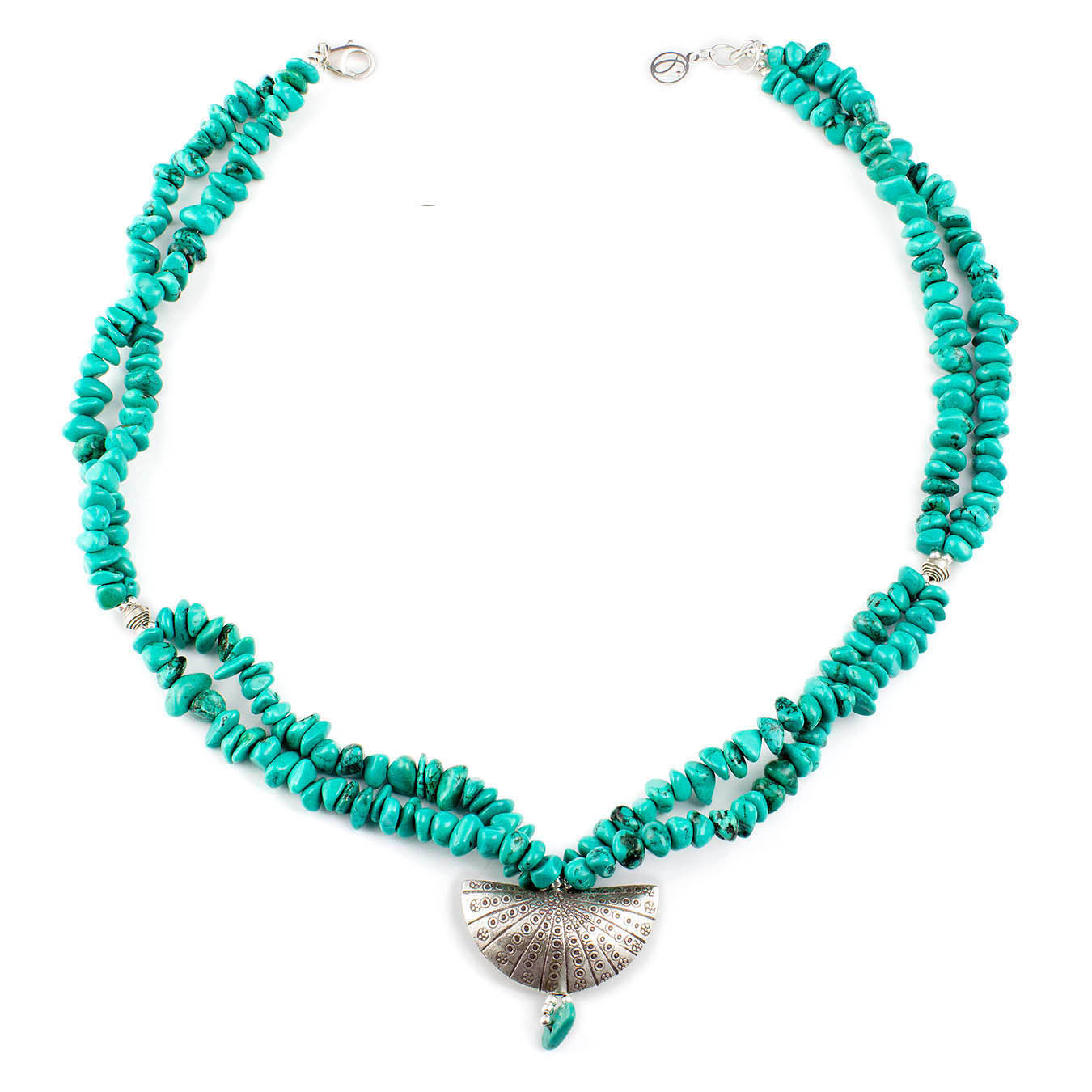Handcrafted artisan birthstone jewelry with turquoise and Thai silver