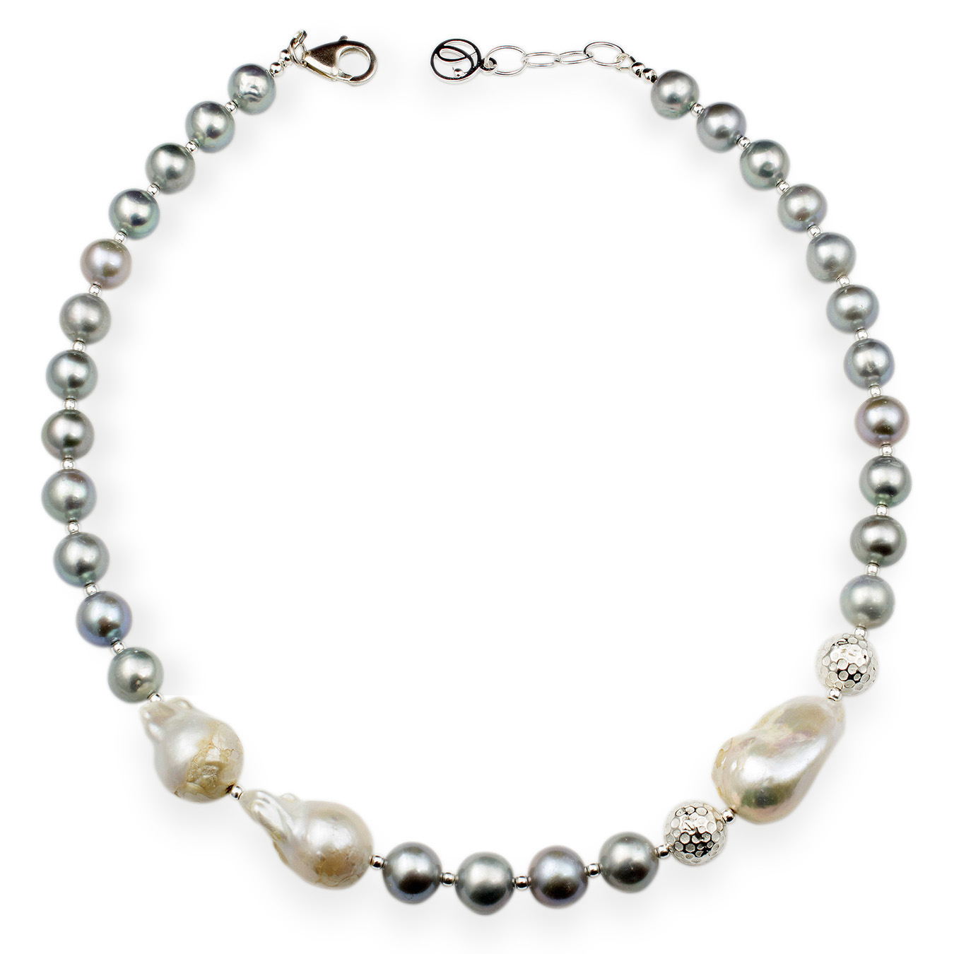 Customizable necklace with choice of AA pearls and nucleated bead