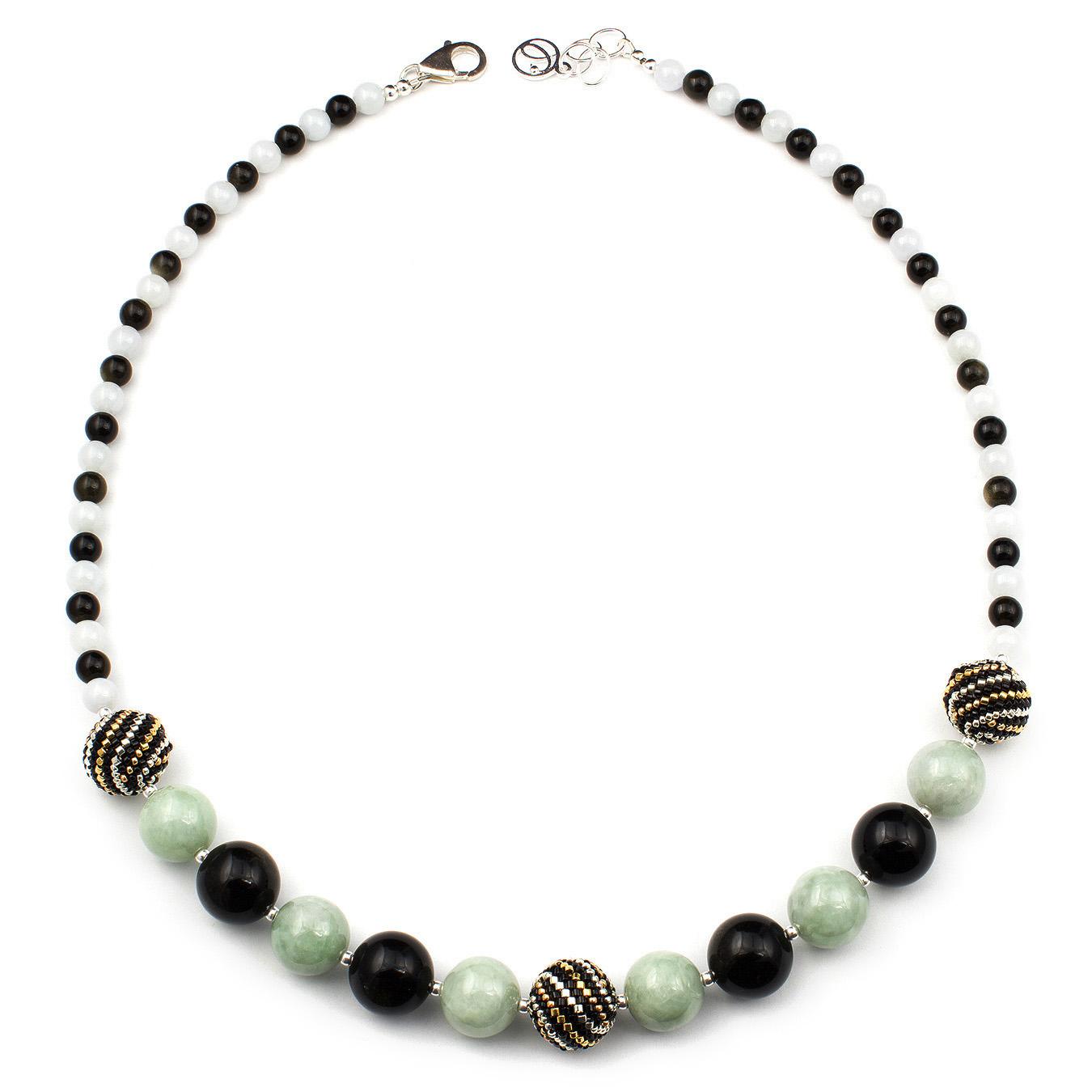 Personalized artisan miyuki pendant necklace using multi-color stones