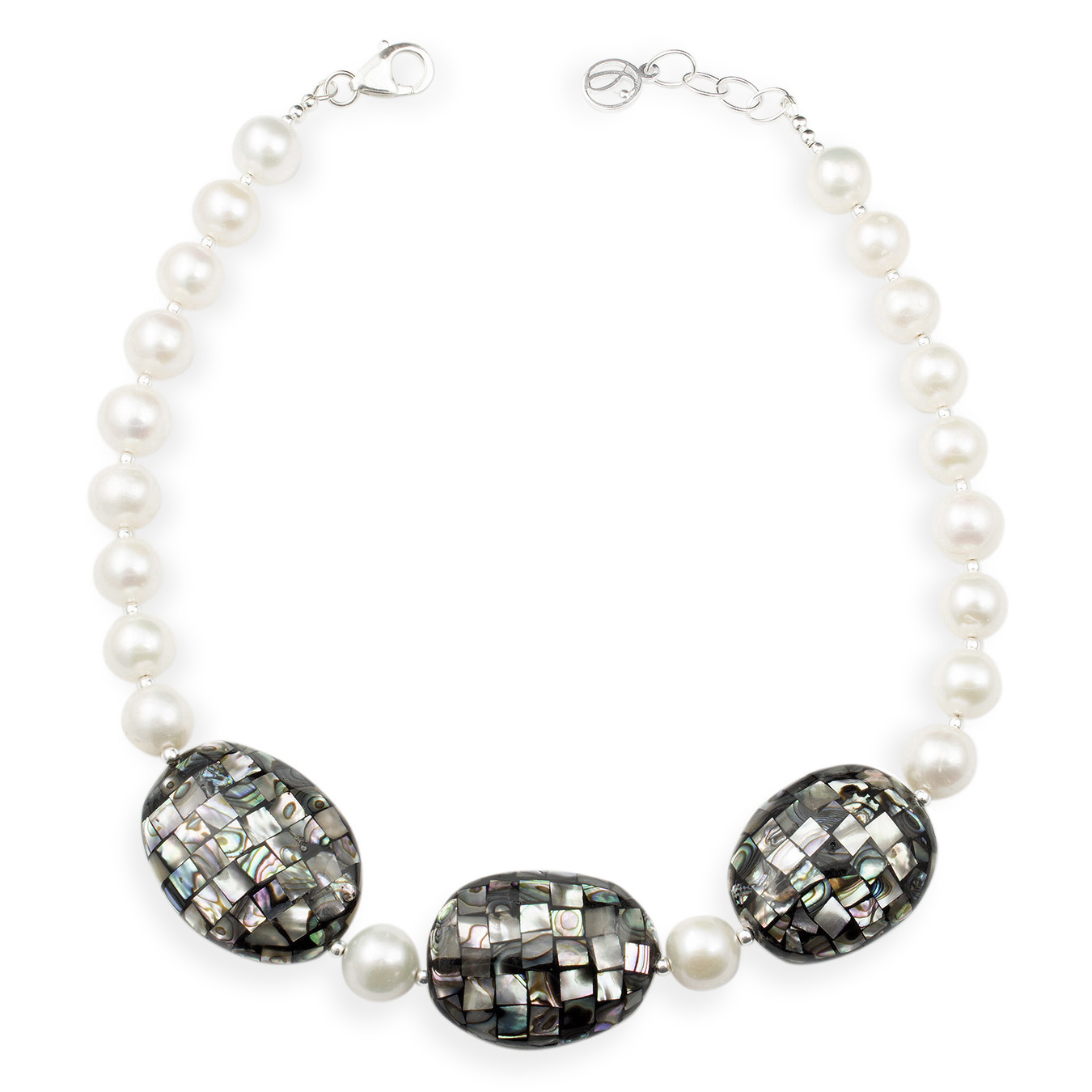 Create your own necklace with choice of AA pearls and paua shell bead