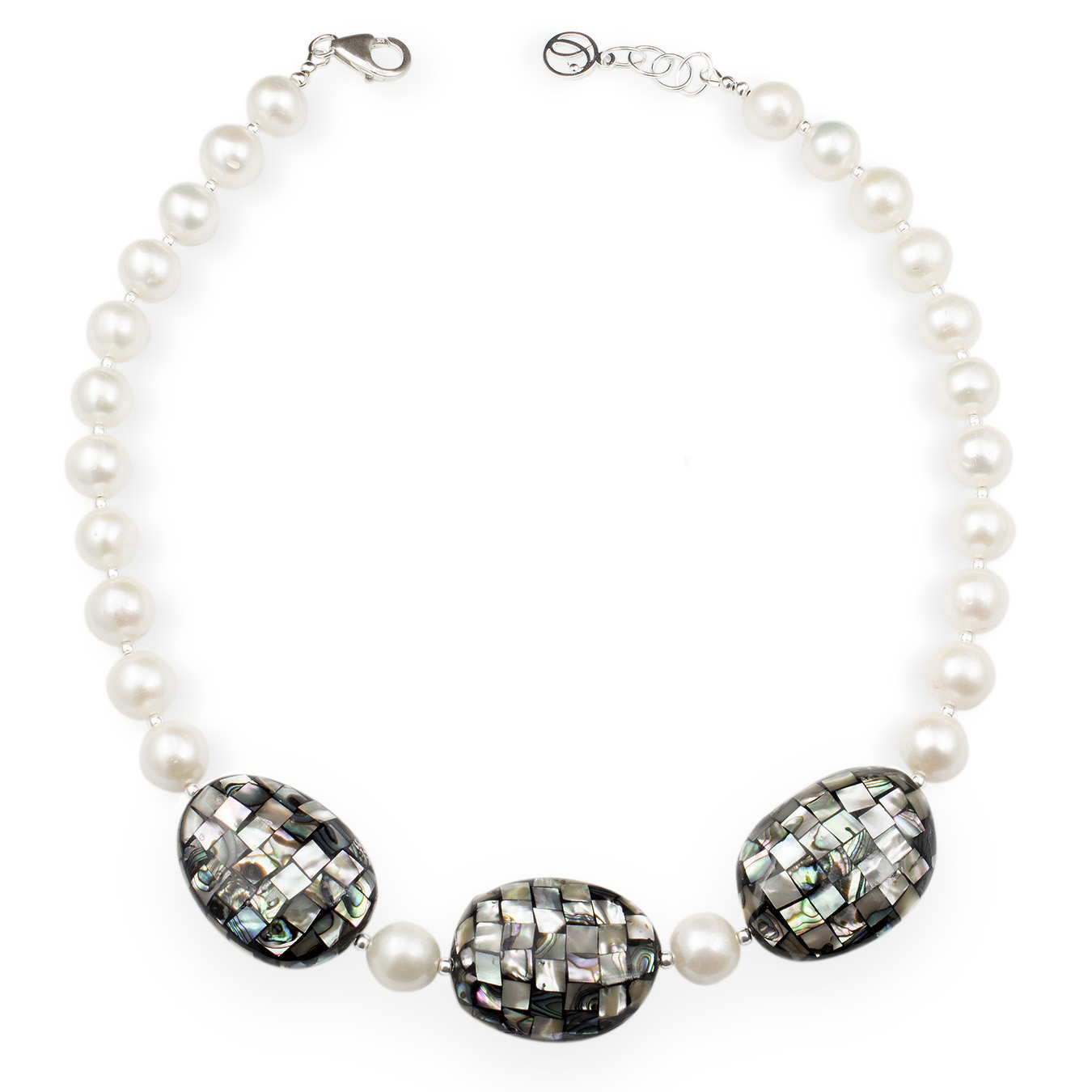 Customizable necklace with choice of AA pearls and paua shell bead