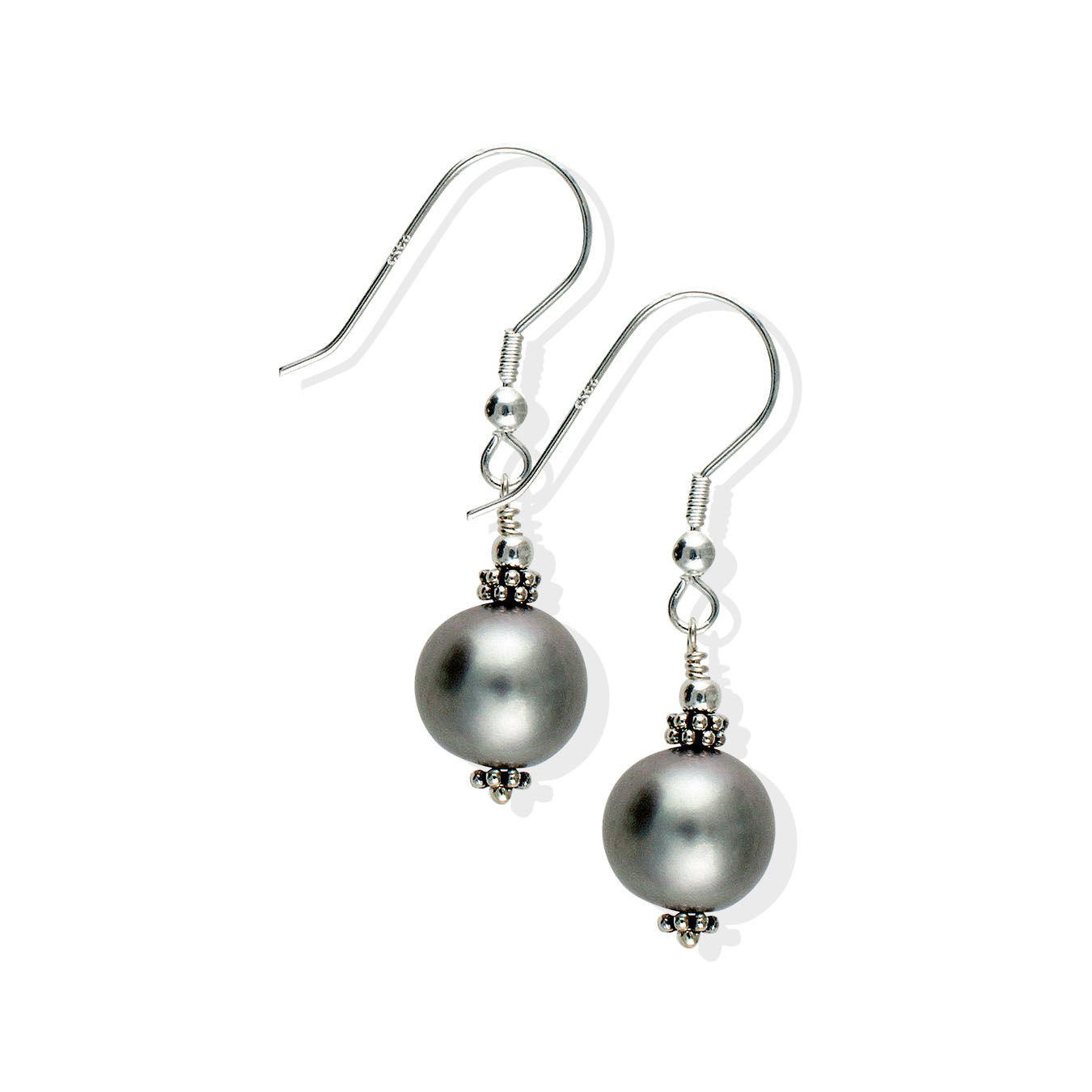 Create your own necklace with choice of AA pearls and hammered silver