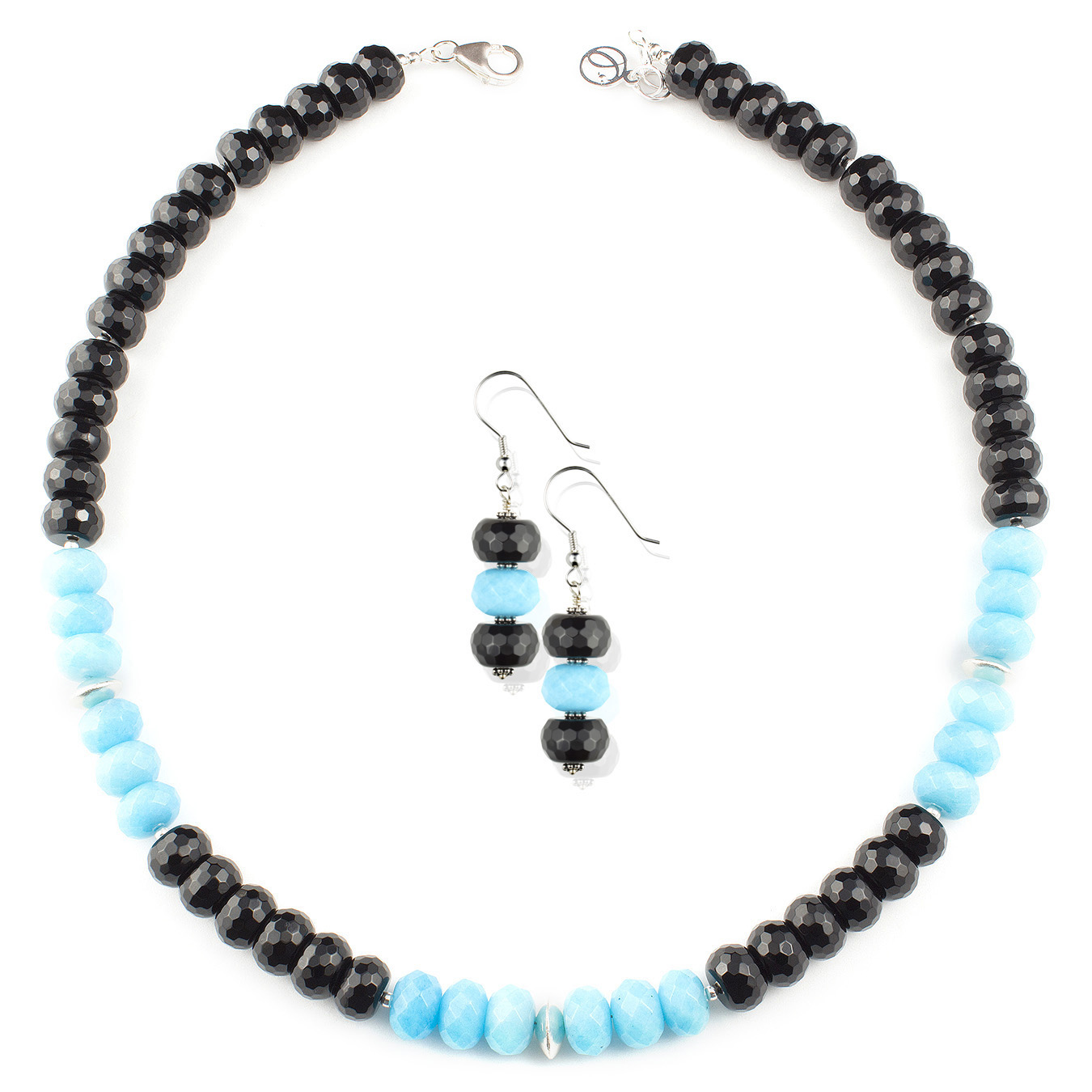 Personalized artisan Thai silver choker necklace using jade gemstones