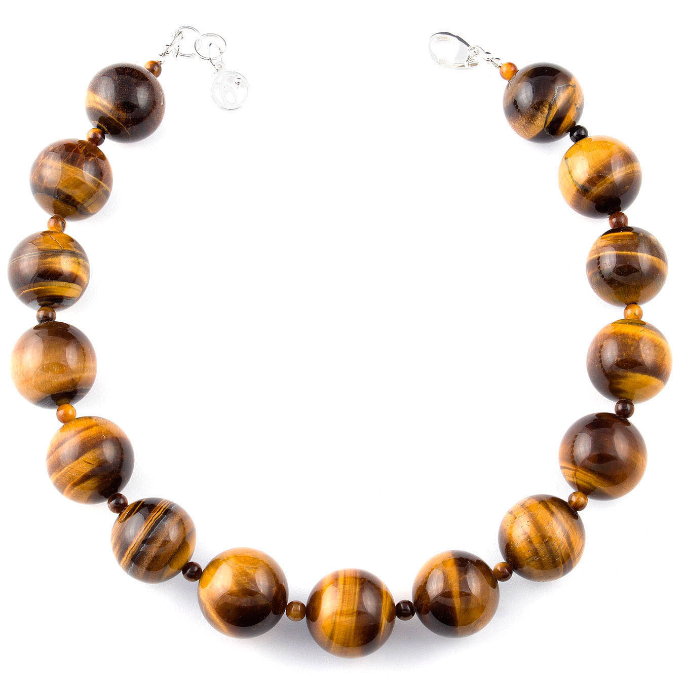 Handcrafted bold bead jewelry made with tiger eye gemstone