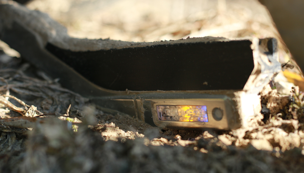 A SmartFirmer sensing the soil.
