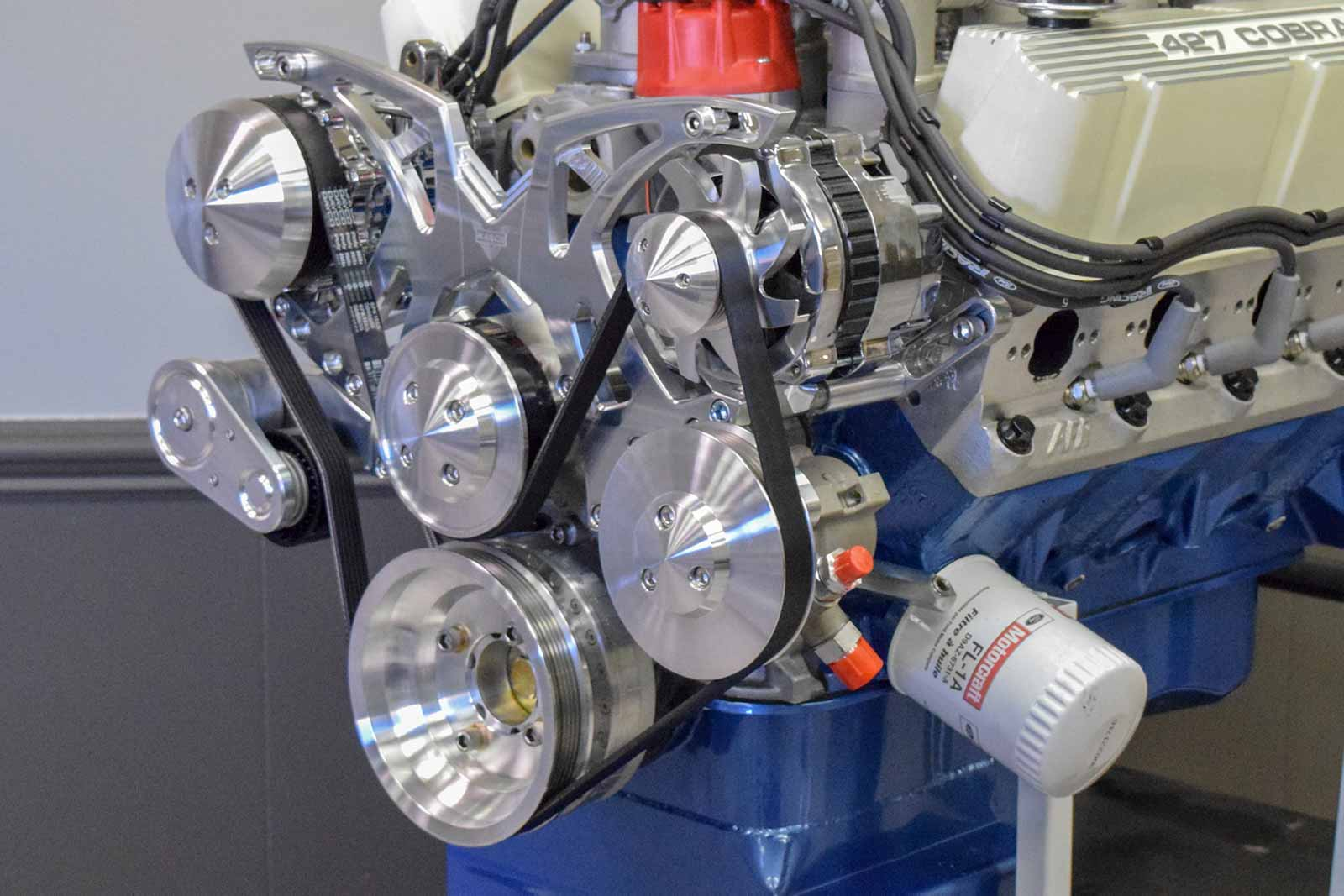 Details about 427 Small Block Ford Custom Stroker Engine All Forged Alum  Heads 351 408 - 550HP