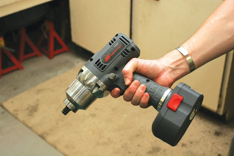 While air tools are still the quickest and most powerful tools in a garage, cordless electric tools like this Ingersoll Rand impact driver are catching up quickly.