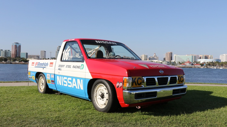The land-speed Hardbody also came from the Nissan collection.