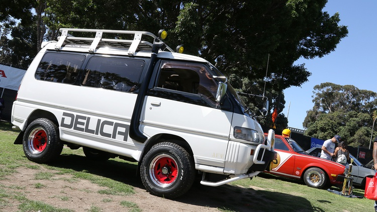 Trucks, too, like this 1985 Mitsubishi Delica.