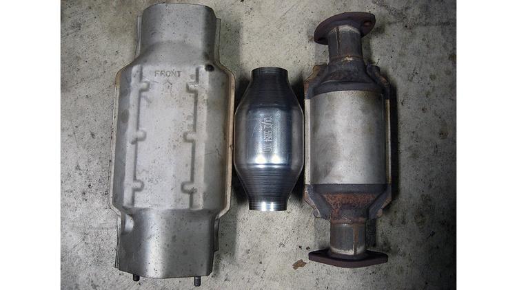 Catalitic convertor suck in the motor