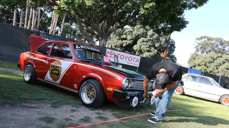Something different: Denis Aquino's 1977 Dodge Colt/Mitsubishi Lancer.