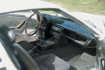 A sporty, elegant interior and race-bred V8 helped the car compete with the likes of Porsche and Jaguar for the consumer dollar.