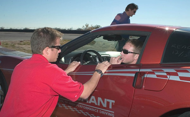 A good career choice for the aspiring racer is to become a professional driving instructor.
