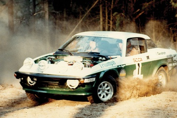John Buffum's Triumph wedges took him to a slew of SCCA ProRally wins.