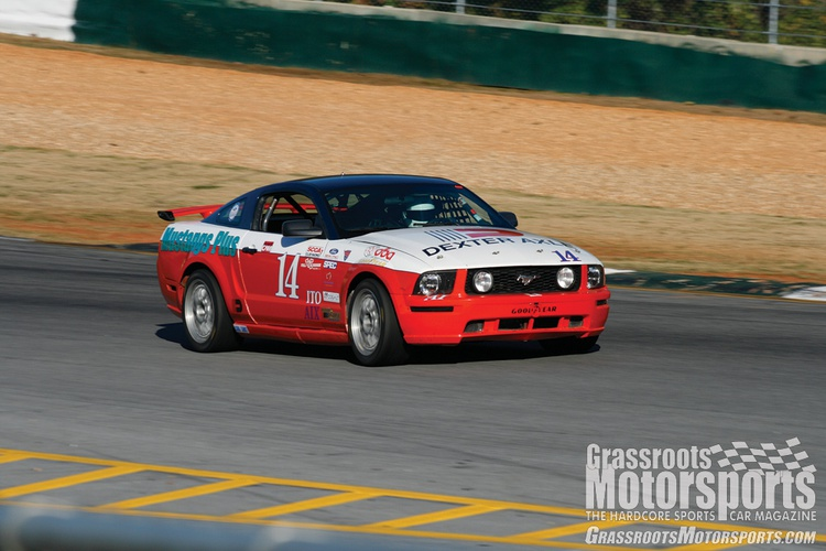 Rob Bodle bought this car with Alcon front calipers meant for an SN95-chassis Mustang—the result of a rushed repair performed by the Zippo team. He later replaced them with the appropriate Brembos.