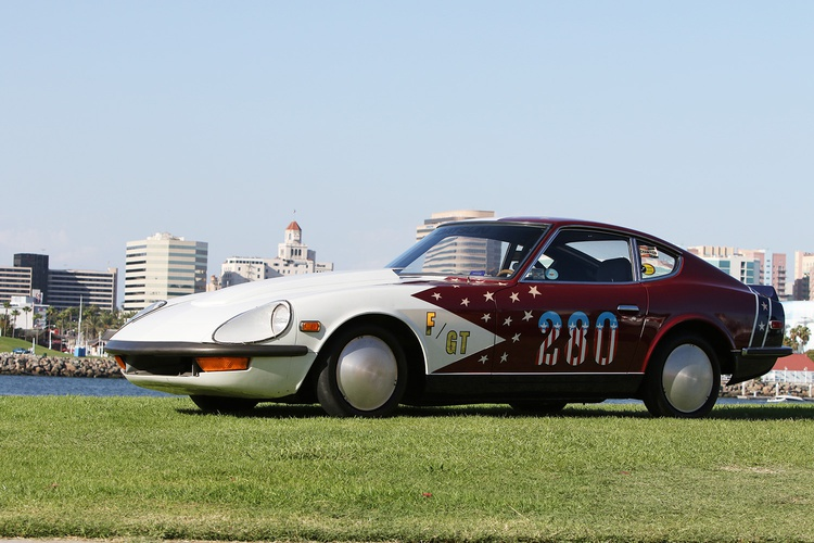 Nissan also showed off a Datsun 240Z prepped for land-speed racing by a group of employees back in 1976.
