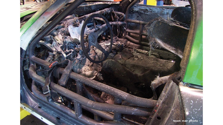 In just a few minutes, fire transformed this brand-new Mazda MX-5 endurance racer into a charred hulk. The incident serves as a sobering reminder that safety must always be taken seriously.